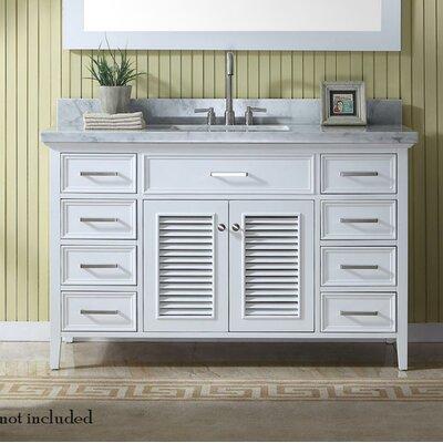 Hamil 55 Single Bathroom Vanity Set Base Finish: White