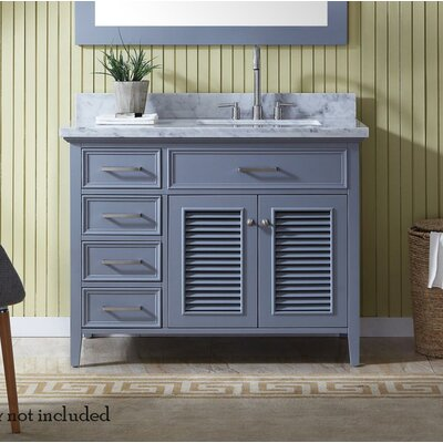 Hamil Modern 43 Single Bathroom Vanity Set Base Finish: Gray