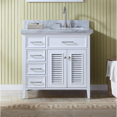 Hamil 37 Single Bathroom Vanity Set Base Finish: White