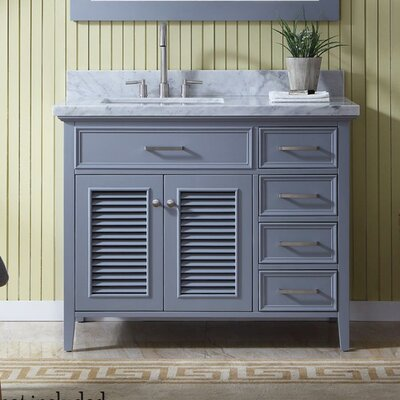Hamil 43 Single Bathroom Vanity Set Base Finish: Gray