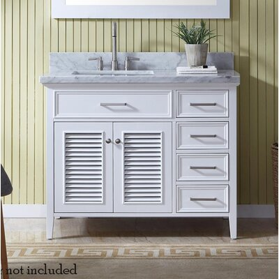 Hamil 43 Single Bathroom Vanity Set Base Finish: White