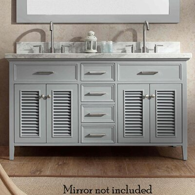 Hamil 61 Double Bathroom Vanity Set Base Finish: Gray