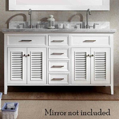 Hamil 61 Double Bathroom Vanity Set Base Finish: White