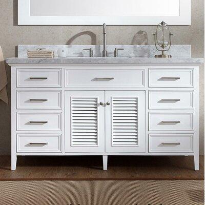 Hamil 61 Single Bathroom Vanity Set Base Finish: White