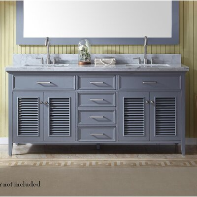 Hamil 73 Double Bathroom Vanity Set Base Finish: Gray