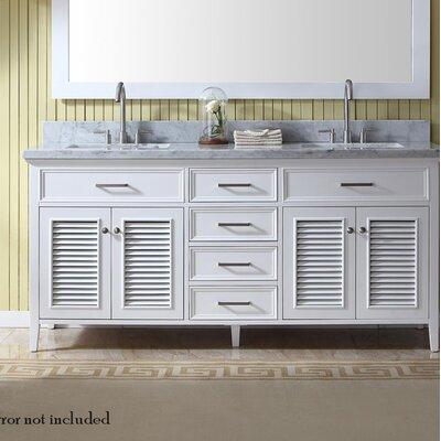 Hamil 73 Double Bathroom Vanity Set Base Finish: White