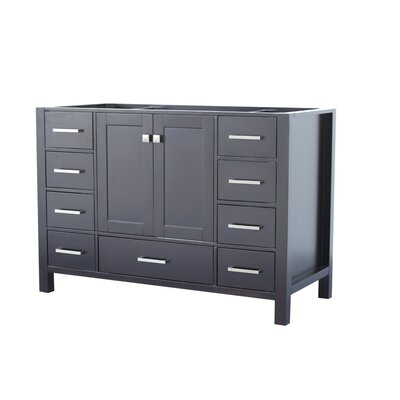 Cambridge 42 Single Bathroom Vanity Base Base Finish: Espresso