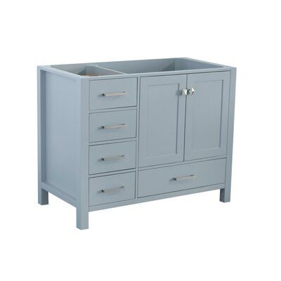 Cambridge Right Offset 42 Single Bathroom Vanity Base Base Finish: Gray