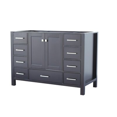Cambridge 48 Single Bathroom Vanity Base Base Finish: Espresso