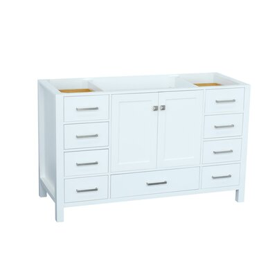 Cambridge 54 Single Bathroom Vanity Base Base Finish: White