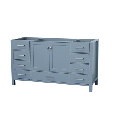 Cambridge 60 Single Bathroom Vanity Base Base Finish: Gray