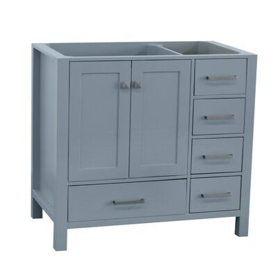 Cambridge Left Offset 36 Single Bathroom Vanity Base Base Finish: Gray