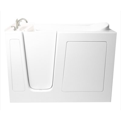 60 x 26 Dual Whirlpool Bathtub Configuration: Left