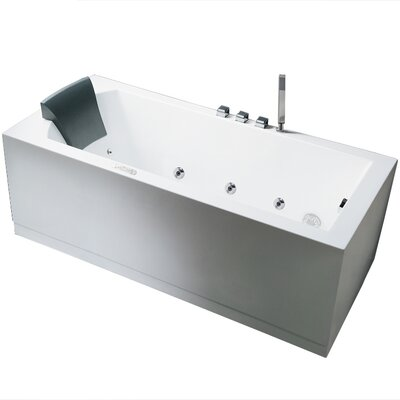 Platinum 59 x 31.5 Whirlpool Bathtub Configuration: Right