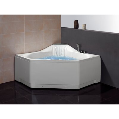 59 x 59 Whirlpool Tub with Waterfall Faucet