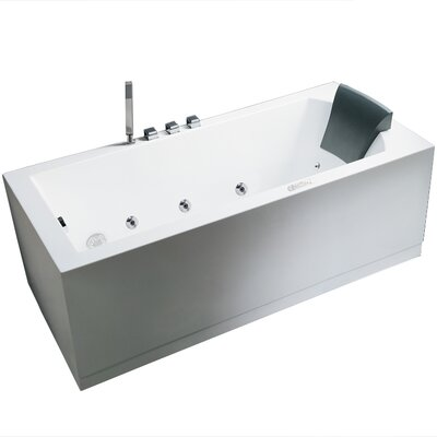 Platinum 59 x 31.5 Whirlpool Bathtub Configuration: Left