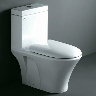 Milano Contemporary Dual Flush Elongated One-Piece Toilet