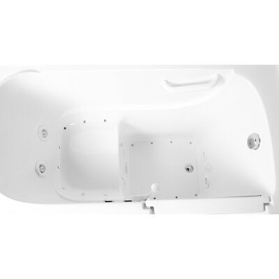 48 x 29 Dual Air and Whirlpool Walk-In Bathtub Drain Location: Right