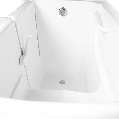 54 x 30 Dual Air and Whirlpool Bathtub Configuration: Left