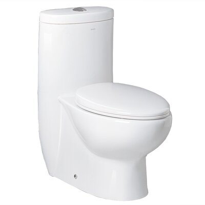 Hermes Contemporary Dual Flush Elongated One-Piece Toilet