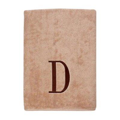 Premier Monogram Block 6 Piece Towel Set Letter: D