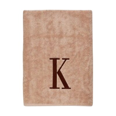 Premier Monogram Block 6 Piece Towel Set Letter: K