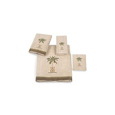 Banana Palm Bath Towel Color: Linen