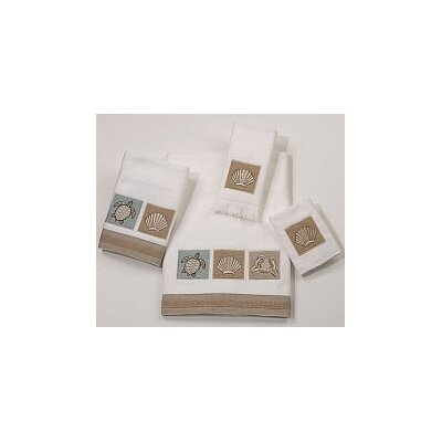 Avanti Linens Sand Shells 4 Piece Towel Set - Color: Mineral at Sears.com
