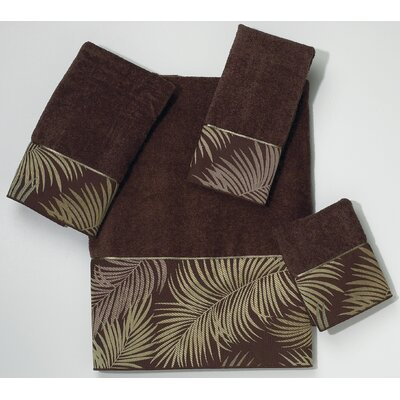 Avanti Linens Tropical Leaves 4 Piece Towel Set - Color: Mocha at Sears.com
