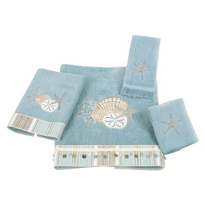 By the Sea 4 Piece Towel Set Color: Mineral