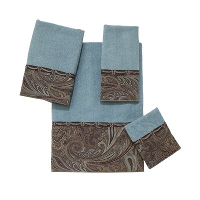 Bradford 4 Piece Towel Set Color: Mineral
