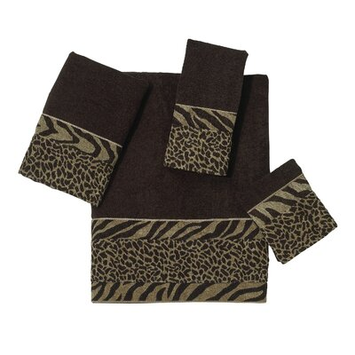 Cheshire 4 Piece Towel Set Color: Java