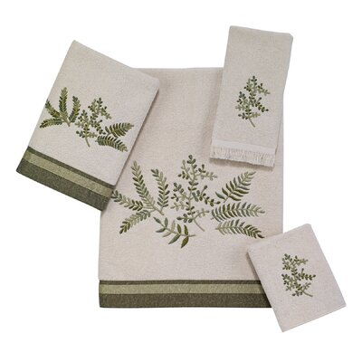Greenwood 4 Piece Towel Set Color: Ivory