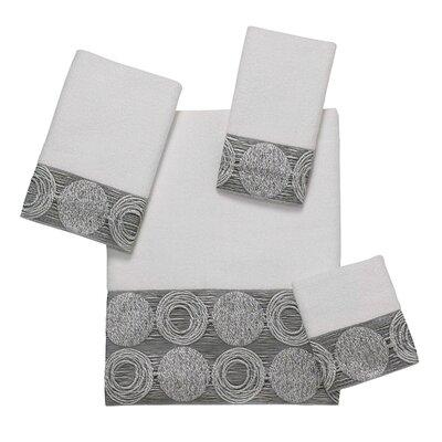 Galaxy 4 Piece Towel Set Color: White