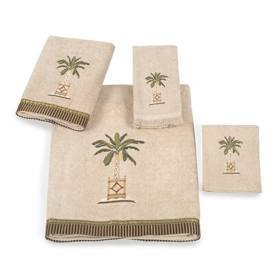 Banana Palm 4 Piece Towel Set Color: Linen
