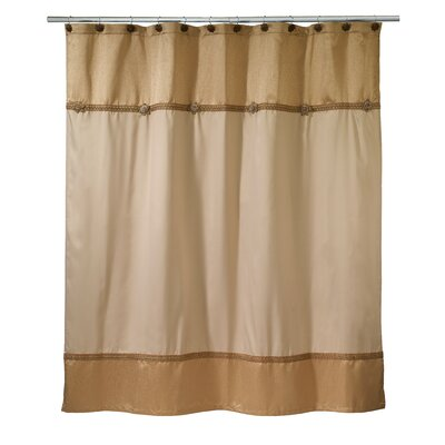 Braided Medallion Shower Curtain Color: Gold