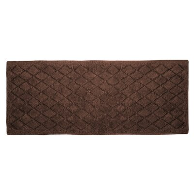 Splendor Solid Bath Rug Size: 1 H x 24 W x 60 D, Color: Mocha