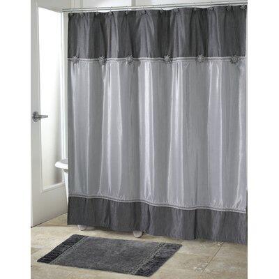 Braided Medallion Shower Curtain Color: Granite