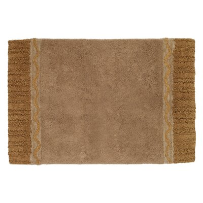 Braided Medallion Bath Rug Color: Gold