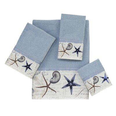 Antigua 4 Piece Towel Set Color: Blue Fog