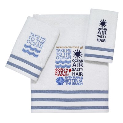 Beach Words 3 Piece Towel Set