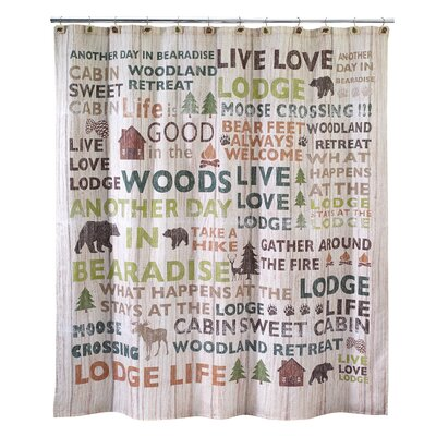 Beach Words Shower Curtain