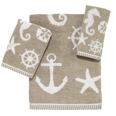 Sea And Sand 3 Piece 100% Cotton Towel Set
