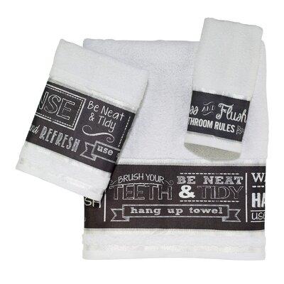 Chalk It up 3 Piece Towel Set