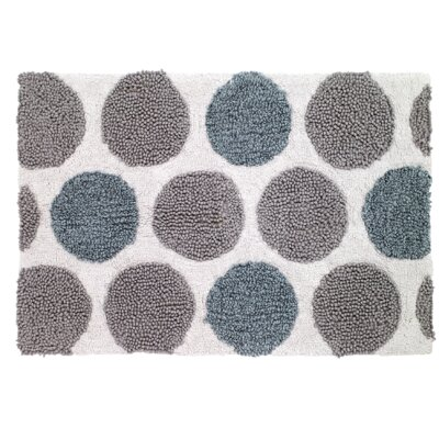 Dotted Circles Shower Bath Rug