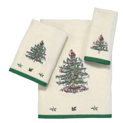 Tree Emb 3 Piece Towel Set