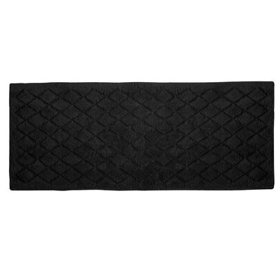 Splendor Solid Bath Rug Size: 1 H x 24 W x 60 D, Color: Black