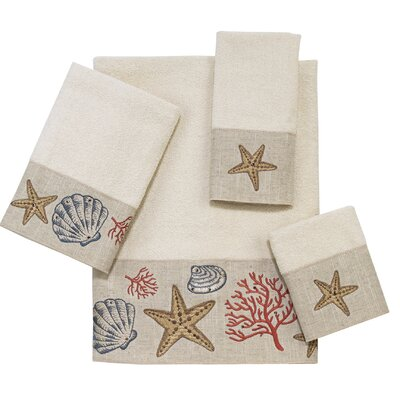 Teaaira 4 Piece Towel Set Color: Ivory