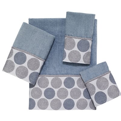 Dotted Circles 4 Piece Towel Set Color: Mineral