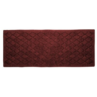 Splendor Solid Bath Rug Size: 1 H x 17 W x 24 D, Color: Brick